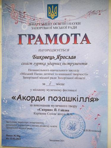 Акорди позашкілля, Биковець Ярослав, ІІм.