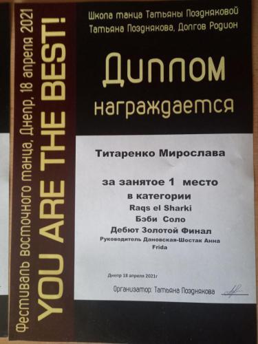 ФРІДА.Титаренко Мирослава, Ім